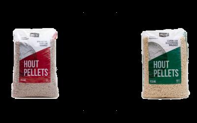 Houtpellets: het verschil tussen witte en bruine pellets